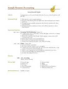 sle resume sle resume template accountant