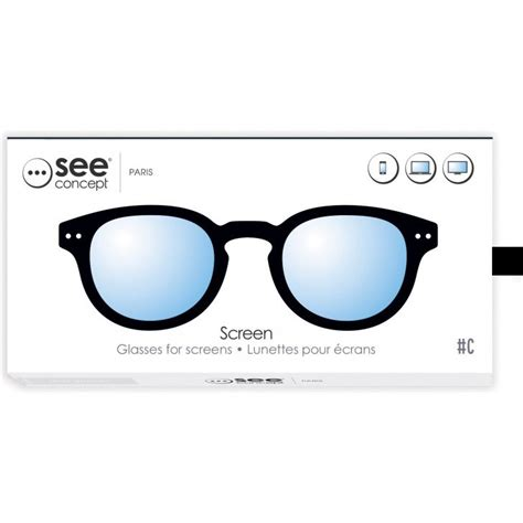 see concept eyeglasses screen c black