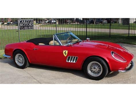 250 Gt California Replica For Sale by 250 California Replica For Sale