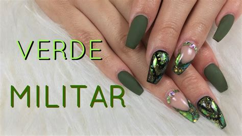imagenes de uñas verdes u 241 as acr 237 licas verde militar decoraci 243 n de u 241 as 2017