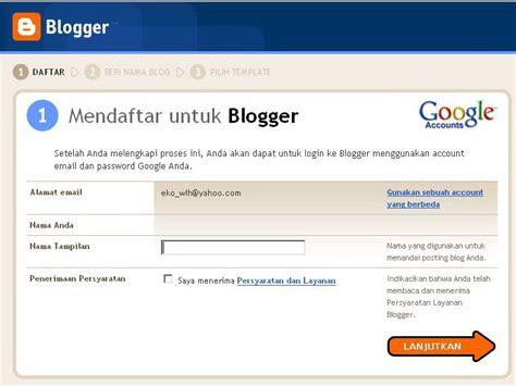blogger register cara membuat blog di blogger com abi sabrina