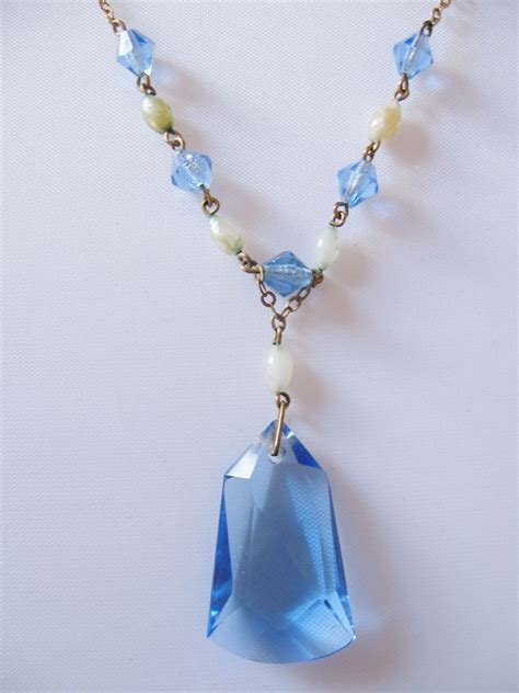 light blue crystal bracelet deco light blue faceted crystal and faux pearl drop