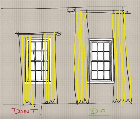how to properly hang curtains sugar cube interior basics how to properly hang drapes