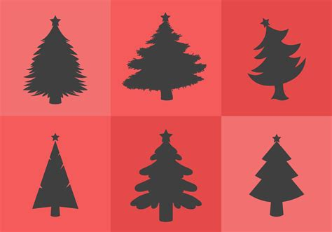 christmas tree silhouette download free vector art