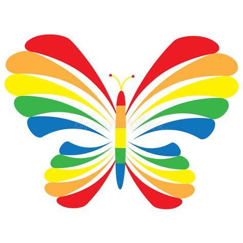 clipart farfalla farfalla rainbow illustrazione vettoriale