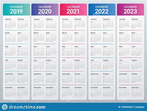 year      calendar vector design template stock vector illustration