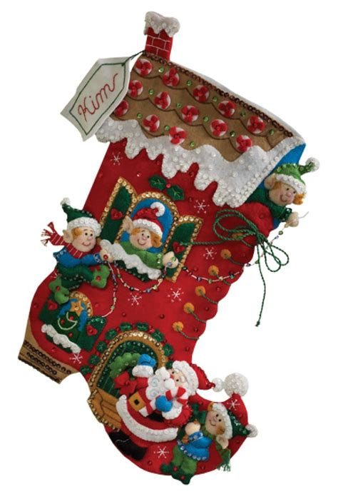 holiday decorating bucilla christmas stocking kit