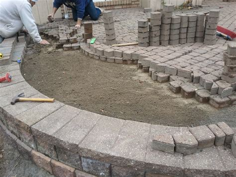 How To Lay Pavers For Patio Exterior Start Laying Pavers At One Corner And Press Laying Patio Plus How To Lay Pavers