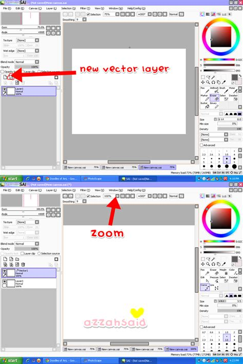 tutorial lukis doodle guna paint tool sai azzahsaid