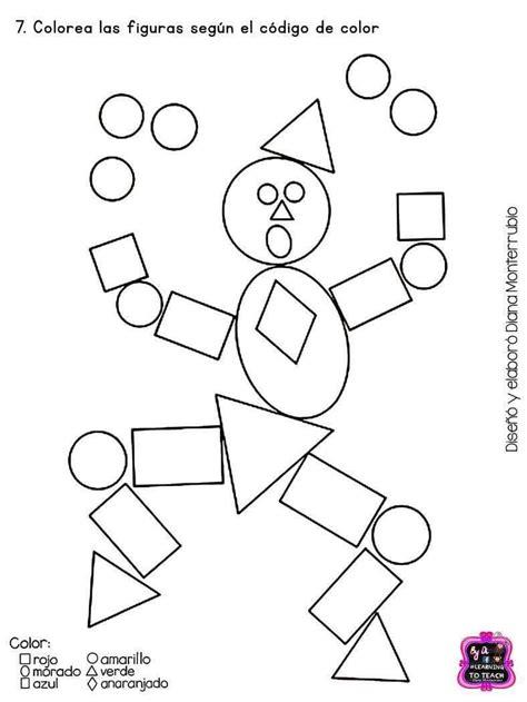 figuras geometricas hojas de trabajo pin de sindy chinchilla en todito prescolar pinterest