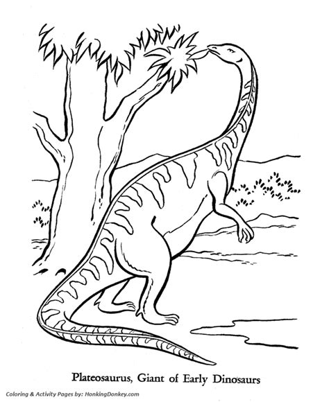 triassic dinosaurs coloring pages dinosaur coloring pages printable plateosaurus coloring