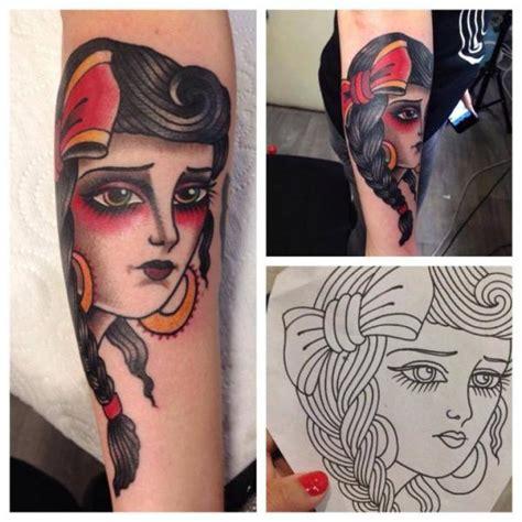 tattoo old school gitana arm old school gypsy tattoo by sailor serpent
