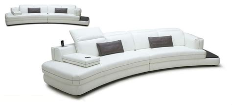 couch with speakers magnolia white full leather sofa w iphone dock speakers