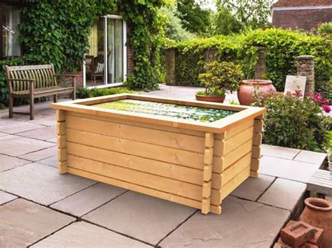 raised garden pond kits timber water features fish ponds