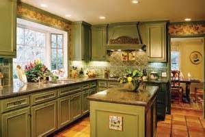 Green kitchen cabinets kitchen the owner glazed the cabinets