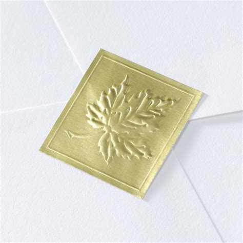 blank printable envelope seals blank gold embossed leaf wedding seal invitations by dawn