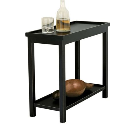 Narrow Side Table Jet Rubbed Black Narrow Wooden Side Table Oka