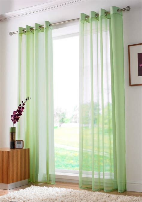 plain lime green curtains lime plain voile eyelet ringtop 150cm net curtain 2 curtains