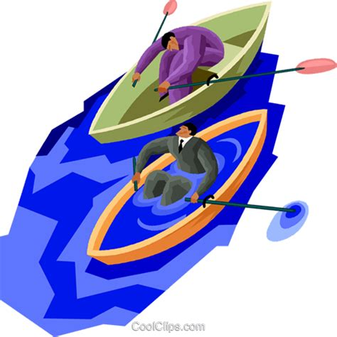 clipart of boat race two men in a boat race royalty free vector clip art