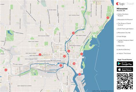 milwaukee map usa milwaukee printable tourist map sygic travel