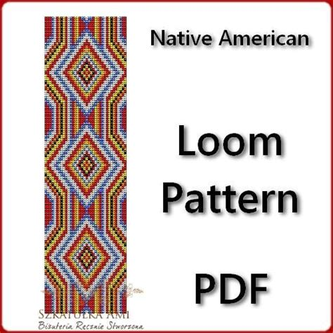 beading loom patterns free american american loom pattern beading by szkatulkaami craftsy