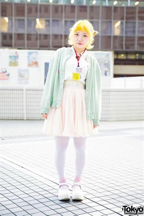 Kimochi Blouse yellow hair pastel japanese fashion w keisuke