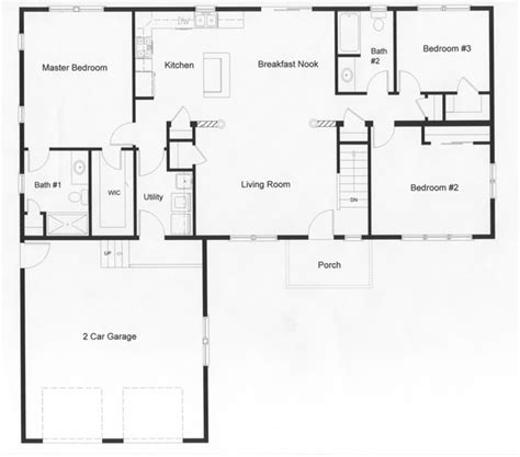 Open Floor Ranch House Plans by Ranch Kitchen Layout Best Layout Room