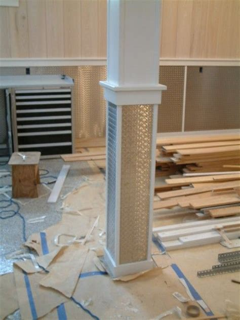 cool paneling    wrapped  support column
