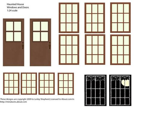haunted house window make haunted houses with cereal boxes and printables