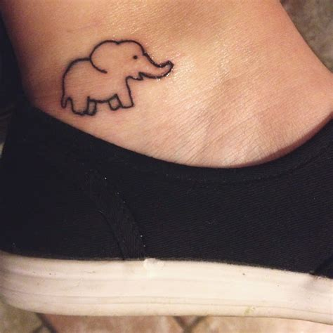 elephant ankle tattoo 50 small elephant tattoos
