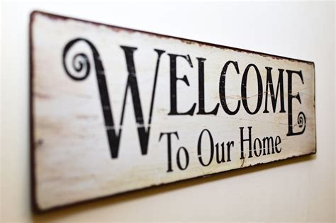 welcome home interiors welcome to our home print brown wooden wall decor 183 free stock photo