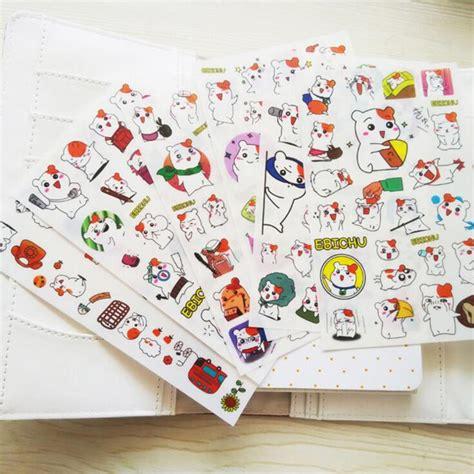 Gantungan Serba Guna Adhesive 6 Pcs 6 pcs pack hamster decorative stickers adhesive stickers diy decoration diary stickers in