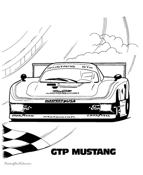 drag race car coloring pages