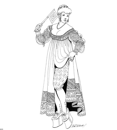 printable coloring pages renaissance clothing of the renaissance coloring pages coloring home
