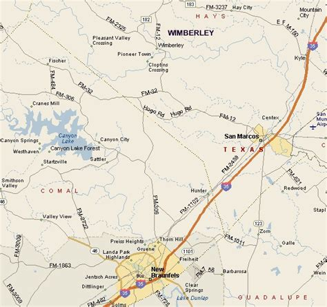 wimberly texas map hill country region map of wimberley area