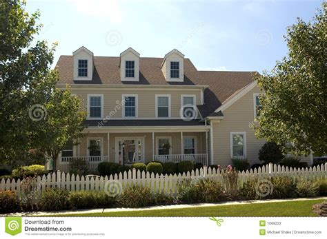 colonial style house stock photography image 1099222