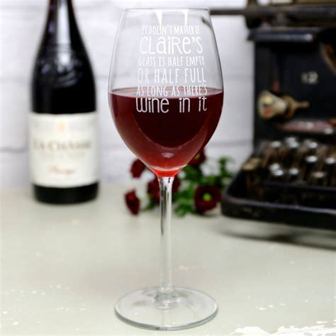 personalised engraved wine lover s wine glass by lisa