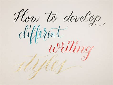 how to develop different writing styles lettering illustration bausenhardt