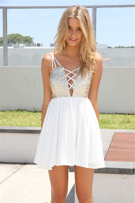 cute white cute white party dresses stylish dress