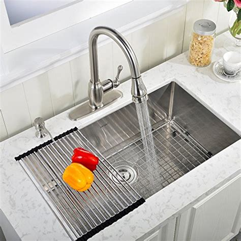 Kitchen Sink Racks Vapsint 174 Modern 30 Inch Stainless Steel Undermount Single Bowl Farmhouse Kitchen Sink 18