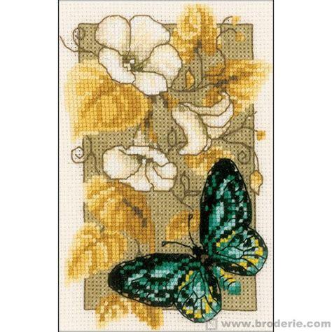 schemi punto croce farfalle e fiori ricamo punto croce farfalle e fiori vervaco ve 0144802