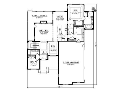 empty nester floor plans empty nester home plans traditional empty nester house