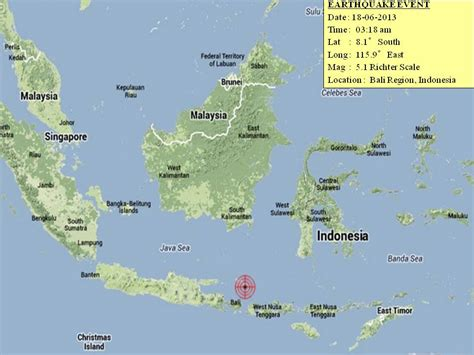 earthquake bali earthquake in bali on 18 june 2013 marufish world of