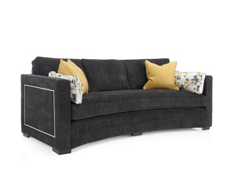 Lauren Fabric Curved Sofa Decorium Furniture Curved Fabric Sofa