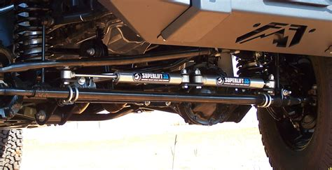 Dual Steering Stabilizer Jeep Jk Superlift 92105 High Clearance Dual Gas Charged Steering