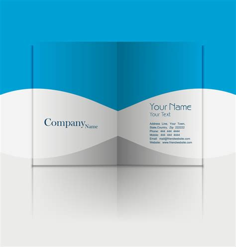 business card presentation template business fold flyer professional template with corporate