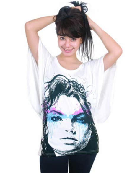 Kaos Cewek Tshirt Drama Putih jual baju wanita on line kaos putih modis