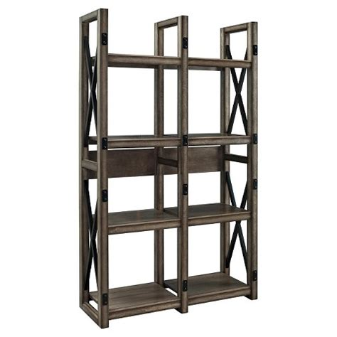 Target Room Divider Bookcase wildwood bookcase room divider rustic gray altra target