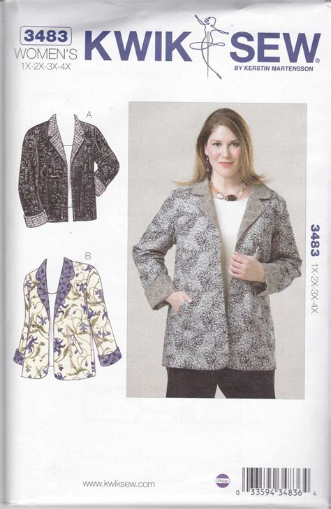 sewing patterns for women over 50 kwik sew sewing pattern 3483 women s plus size 1x 4x