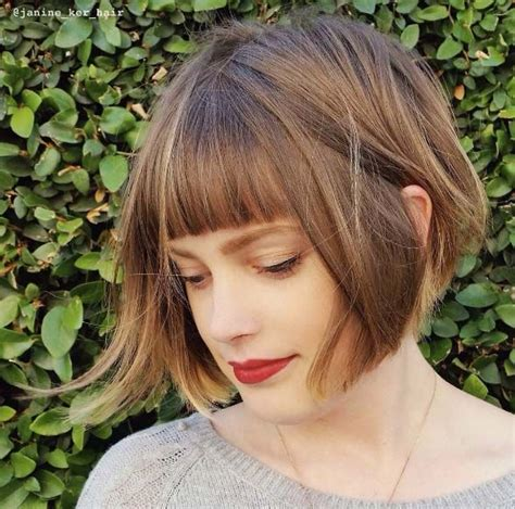 short hair styles with bangs and wisps of hair on the side 17 best ideas about chin length hairstyles on pinterest